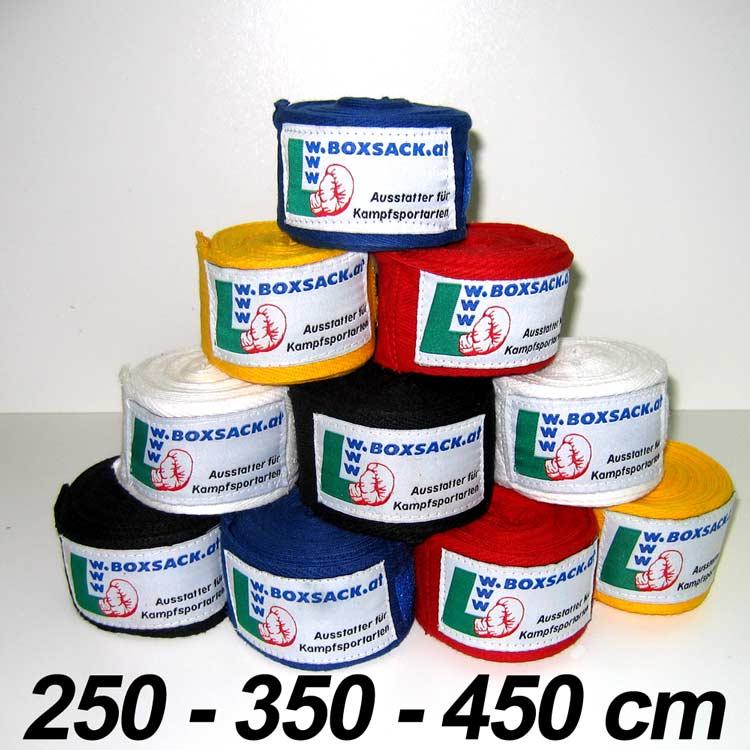 Handbandage Boxbandagen in elastische und unelastischer Ausführung. Typ c