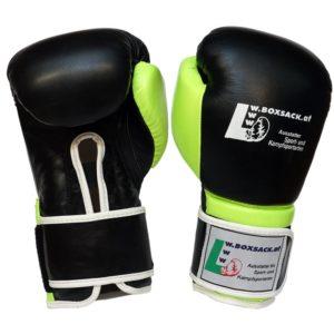 Boxhandschuhe FORCE NEON GREEN aus strapazierfähigem Rindsleder mit Mesh Bild b