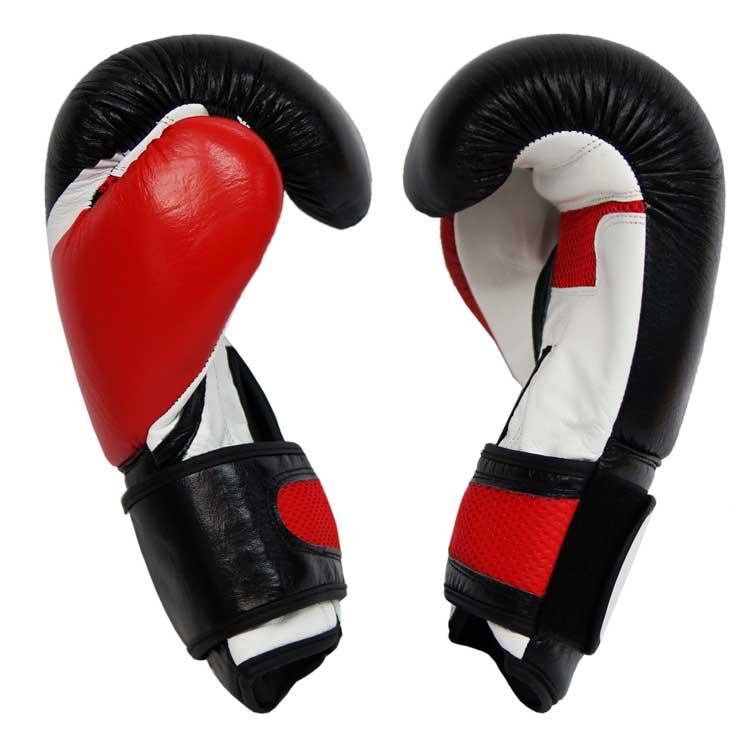 Boxhandschuhe DOMINATOR aus strapazierfähigem Rindsleder mit Mesh Bild c