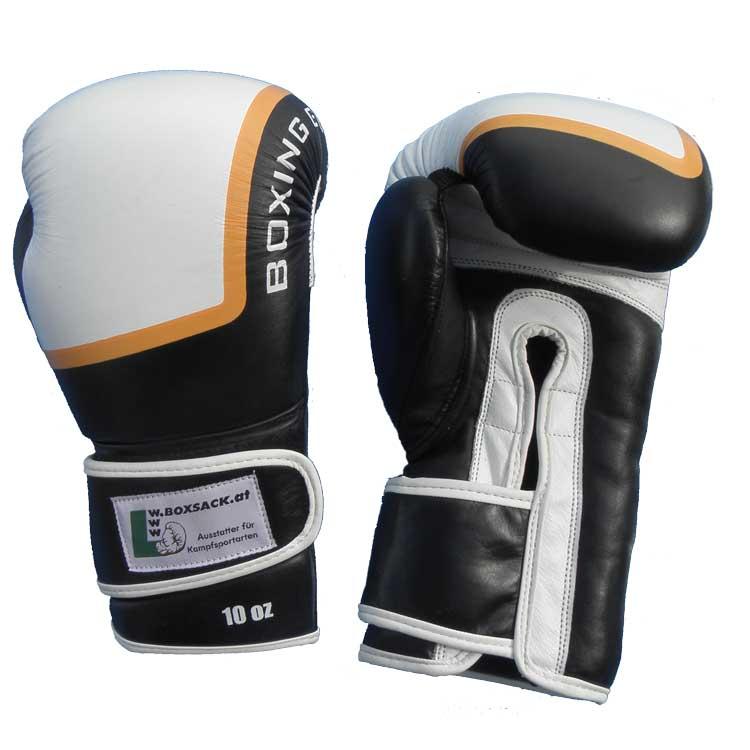 Boxhandschuhe FIGHTER aus strapazierfähigem Rindsleder mit Mesh Bild a