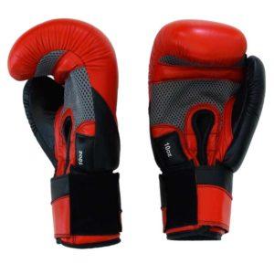 Boxhandschuhe MESH STYLE aus bestem Rindsleder mit Mesch Bild a