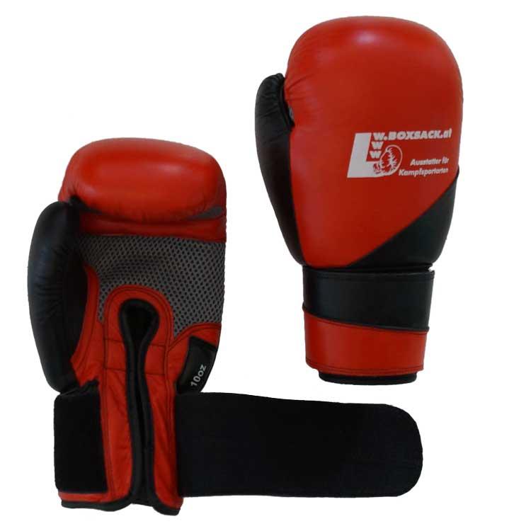 Boxhandschuhe MESH STYLE aus bestem Rindsleder mit Mesch Bild b