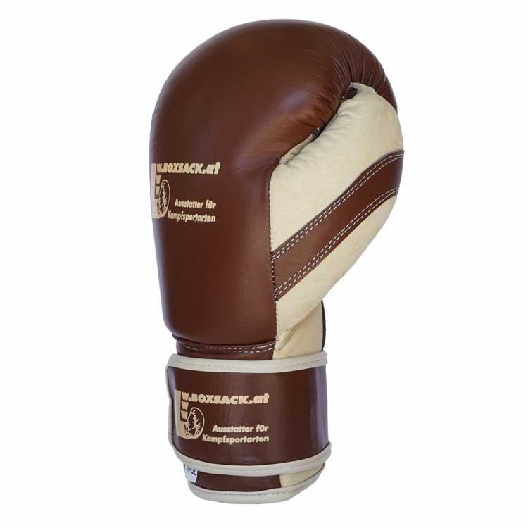Boxhandschuhe OLD STYLE aus strapazierfähigem Rindsleder Farbe Orange Bild c