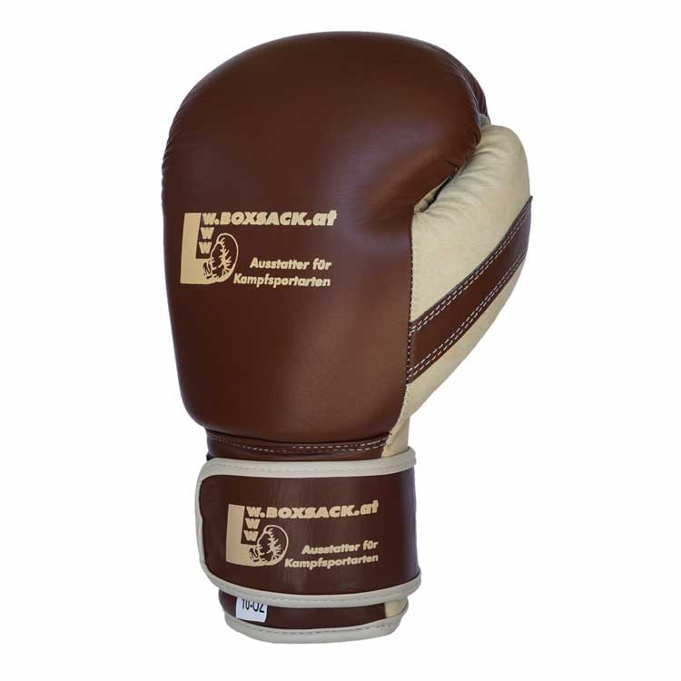 Boxhandschuhe OLD STYLE aus strapazierfähigem Rindsleder Farbe Orange Bild b