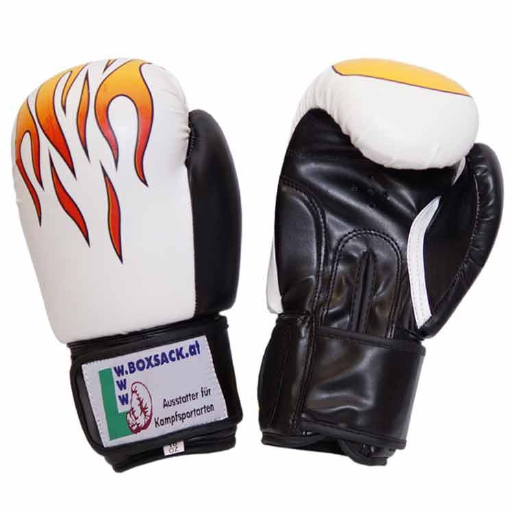 Boxhandschuhe STRONG FIRE widerstandsfähiges Kunstleder Typ a