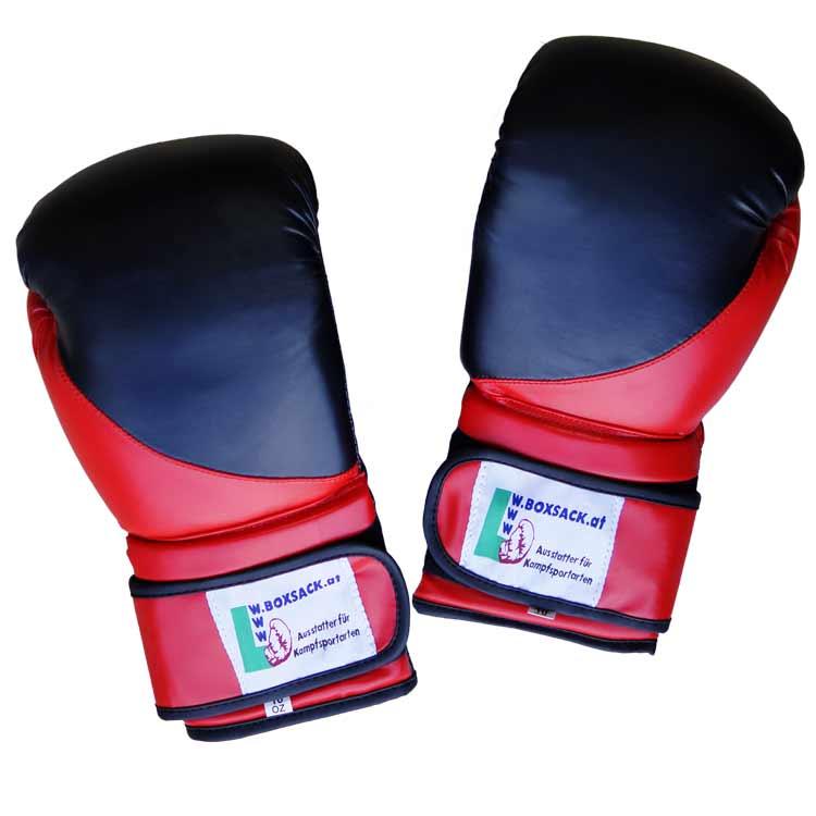 Boxhandschuhe TIGER BLACK and RED aus widerstandsfähigem Kunstleder Typ a