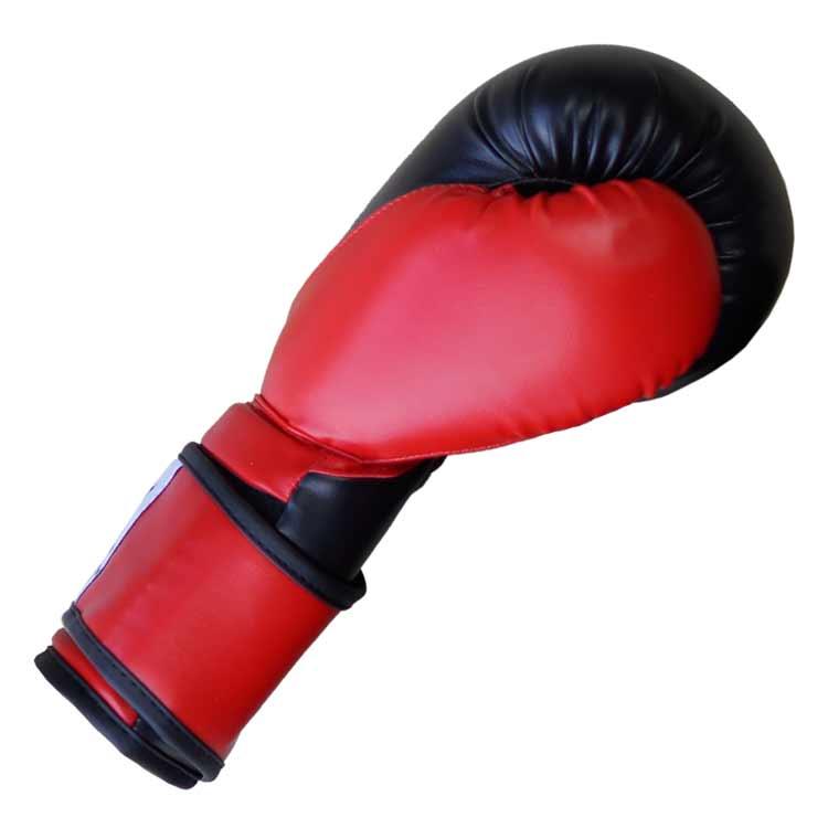 Boxhandschuhe TIGER BLACK and RED aus widerstandsfähigem Kunstleder Typ