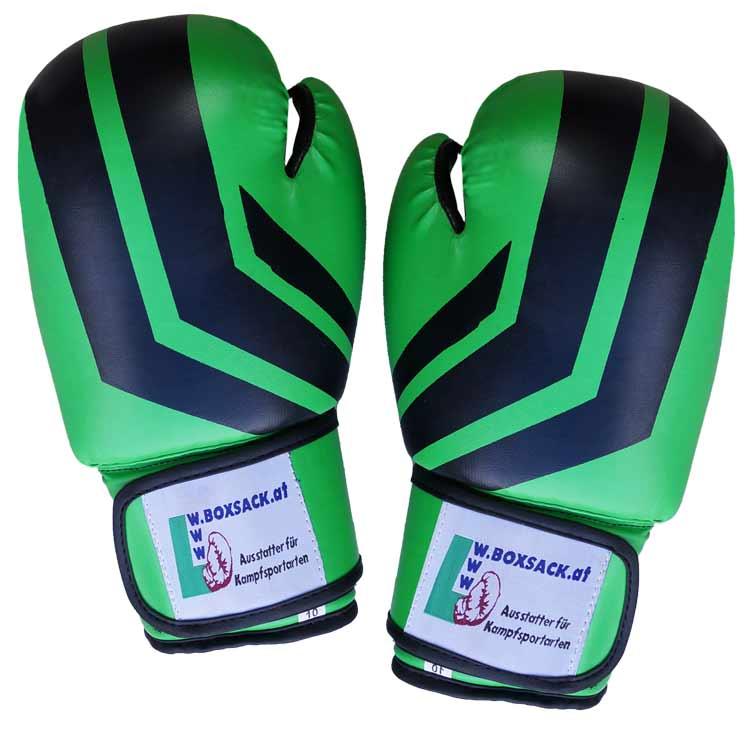Boxhandschuhe Viper BLACK GREEN aus widerstandsfähigem Kunstleder