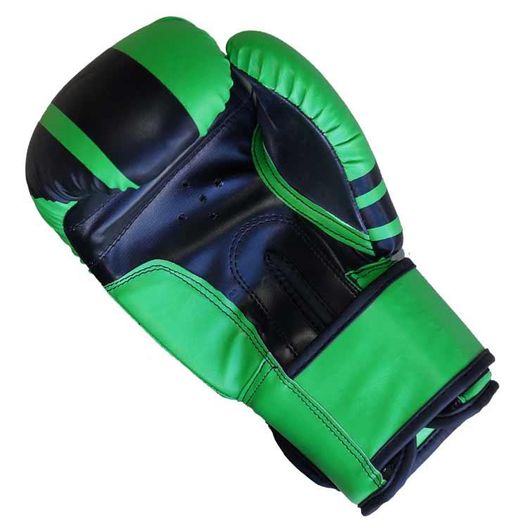 Boxhandschuhe Viper BLACK GREEN aus widerstandsfähigem Kunstleder Typ a