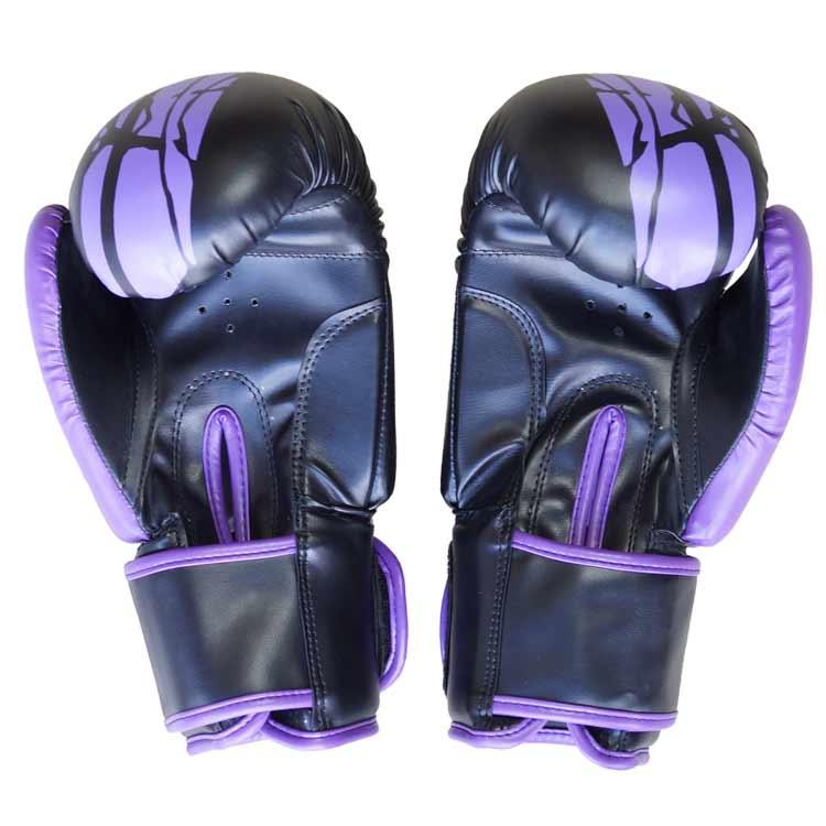 Boxhandschuhe Viper BLACK PURPEL aus widerstandsfähigem Kunstleder