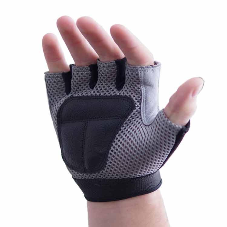 Gewichtherberhandschuhe Fitnesshandschuhe Leder Mesch Varianten Typ b