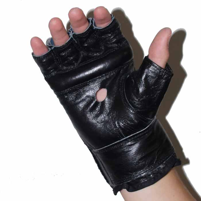 Sandsackhandschuhe Fight aus Rindsleder Fingerlos Typ c