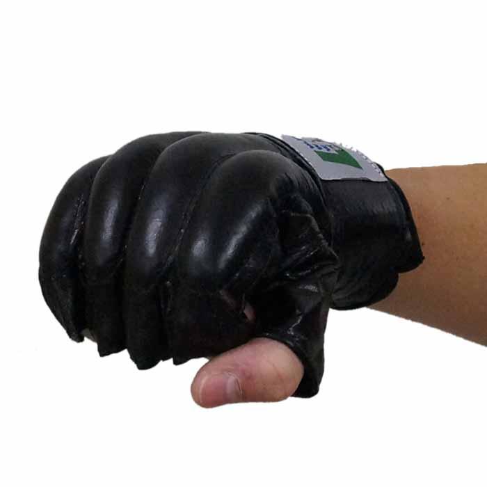 Sandsackhandschuhe Fight aus Rindsleder Fingerlos Typ b