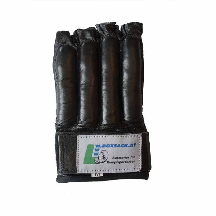 Sandsackhandschuhe Fight aus Rindsleder Fingerlos Typ f