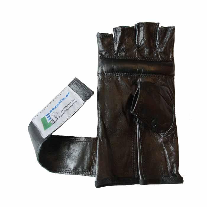 Sandsackhandschuhe Fight aus Rindsleder Fingerlos Typ e