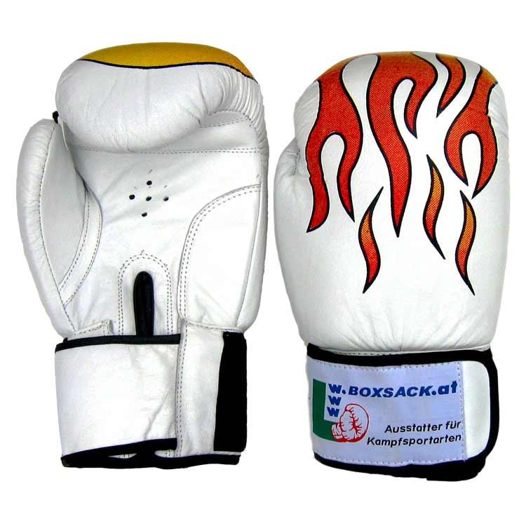 Boxhandschuhe STRONG FIRE widerstandsfähiges Rindsleder Typ a