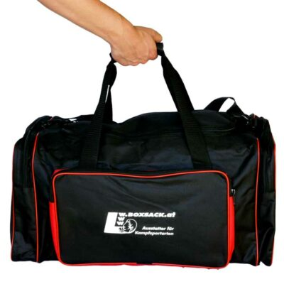 Sporttasche Trainigstasche Black and Red-d