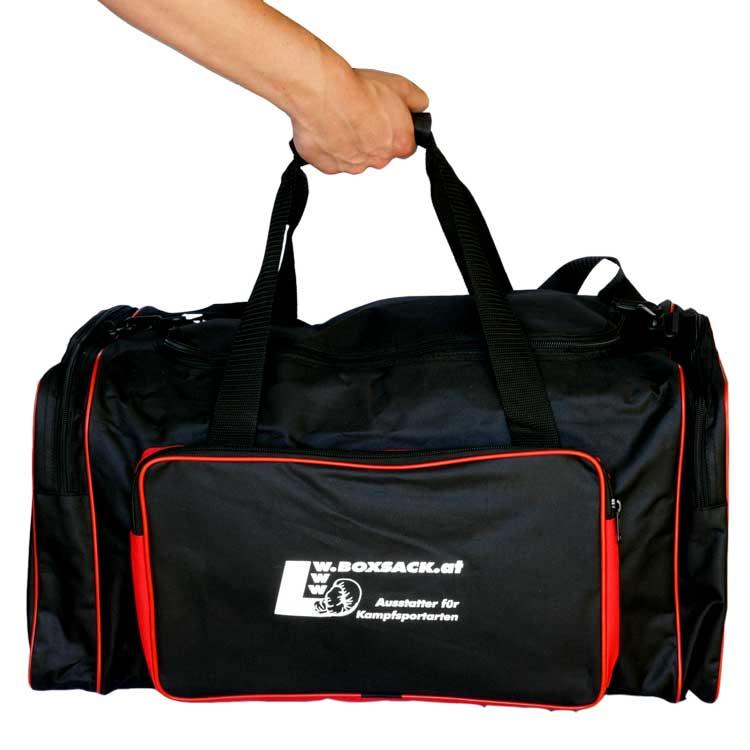 Sporttasche Trainigstasche Black and Red-d