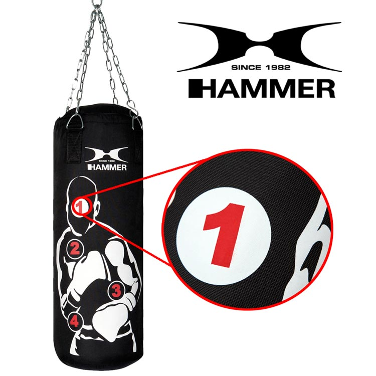 Boxsack HOME FIT SPARRING PRO von HAMMER SPORT mit Treffpunkten d