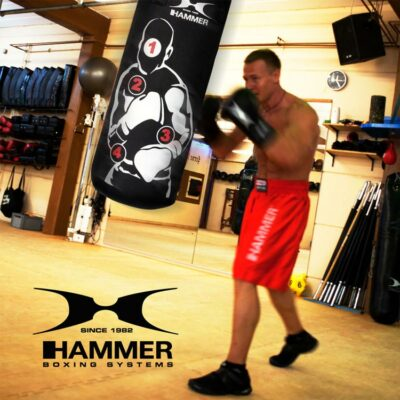 Boxsack HOME FIT SPARRING PRO von HAMMER SPORT mit Treffpunkten e
