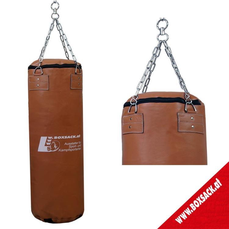Boxsack aus Rindsleder im Retro Design Farbe Braun in 3 Größen erhältlich