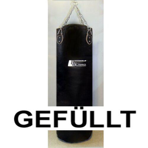 Boxsack aus Leder in verschiedenen Größen gefüllt und ungefüllt Typ b