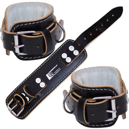 Handgelenks Manschetten für Gewichte heben aus Leder 1 Paar