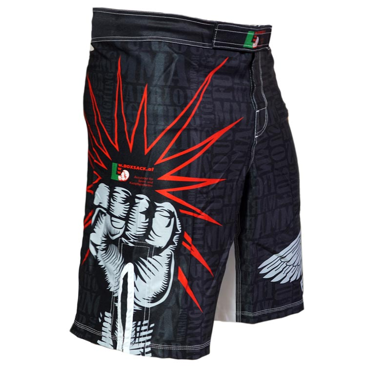 MMA Shorts red Star - a