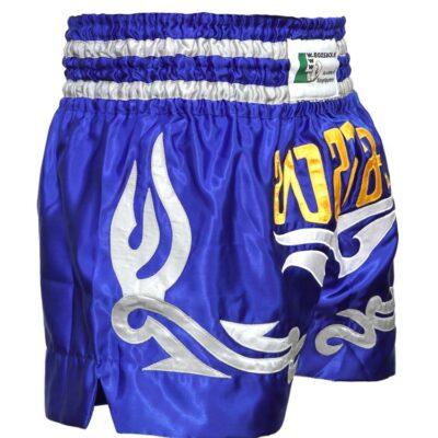 Muay Thai Short Warrior Farbe Blau Grau Gelb Typ C