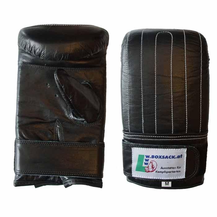 Sandsackhandschuhe Rindsleder Schwarz in verschiedenen Größen Typ d
