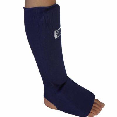 Schienbeinschoner elastisch mit Ristschutz Farbe Blau