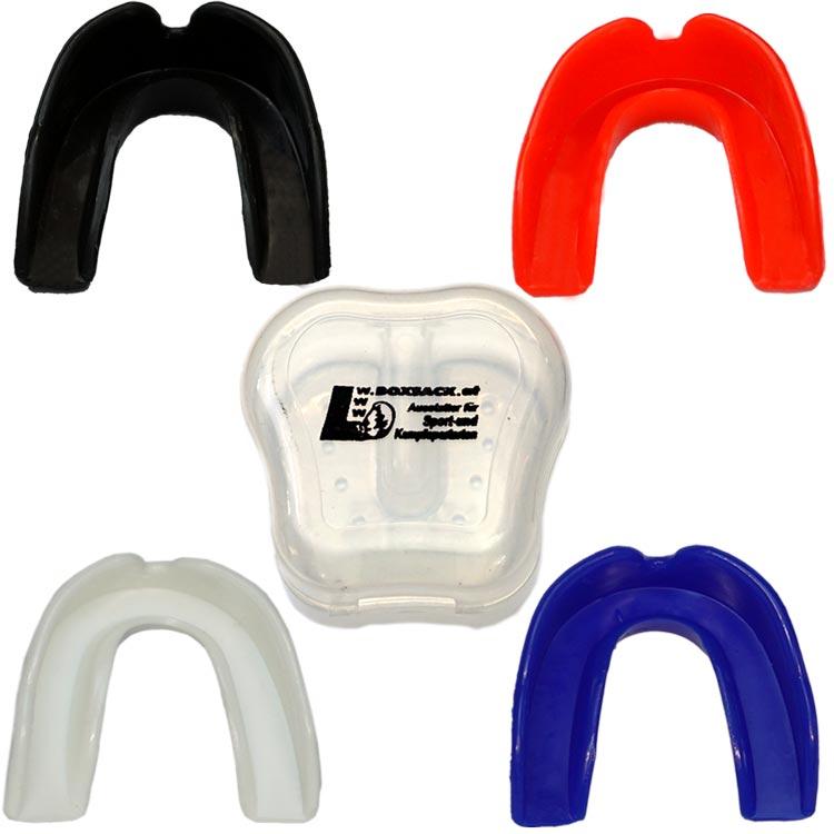 Zahnschutz einfach mit Aufbewahrungsdose verschiedene Farben