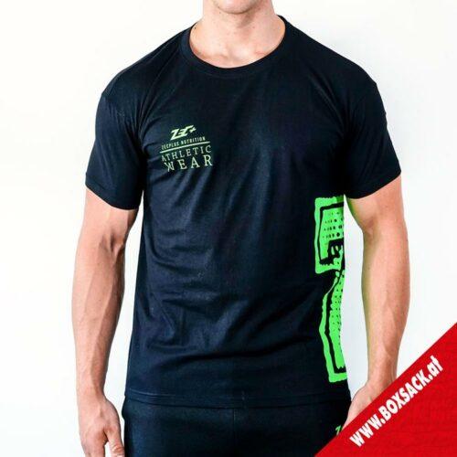 Zec Herren Shirt Athletic T-Shirt in Schwarz