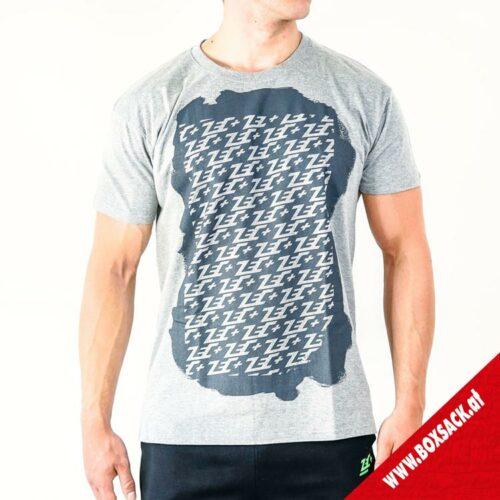 Zec Herren T Shirt Fitness Multilogo in Grau