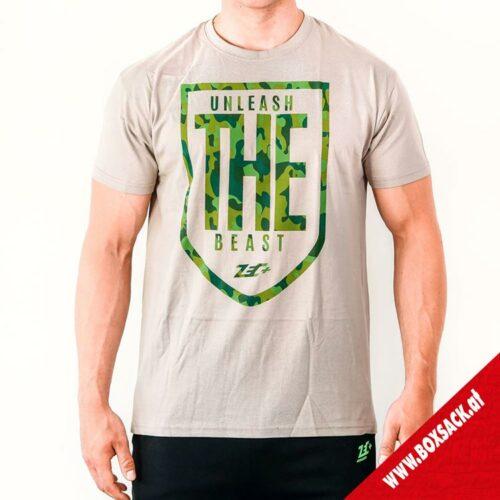Zec Herren T-Shirt Fitness The Beast in Olivegrün Typ A