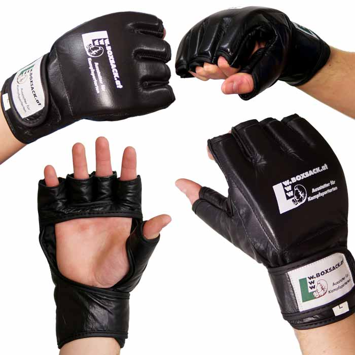 MMA Handschuhe Schwarz in verschiedenen Größen Bild f