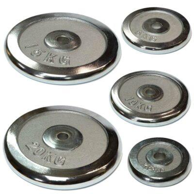 Hantelscheiben Gewichtsscheiben Crome Stahl in verschiedenen Gewichten erhältlich