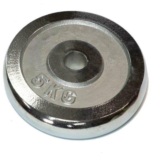 Hantelscheiben Gewichtsscheiben Crome Stahl Gewicht 5 Kg