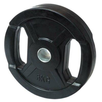 Hantelscheiben Gewichtsscheiben Stahl Gummi mit Metallring und Griffmulde a