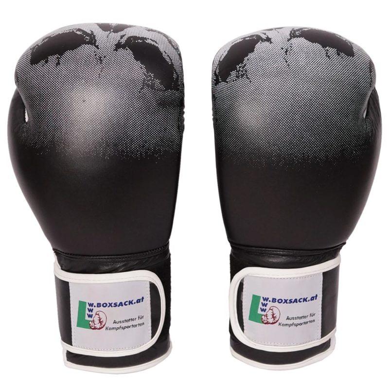 Boxhandschuhe Mystery aus Rindsleder und Totenkopf Design Bild c